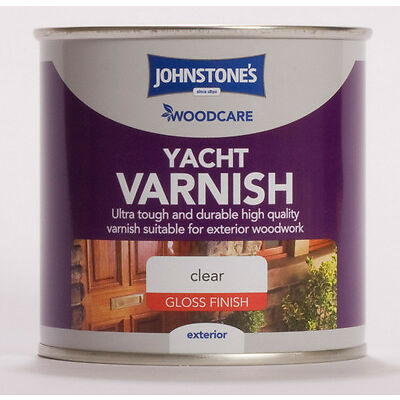 Johnstone's Woodcare External Yacht Varnish Gloss 250ml Clear