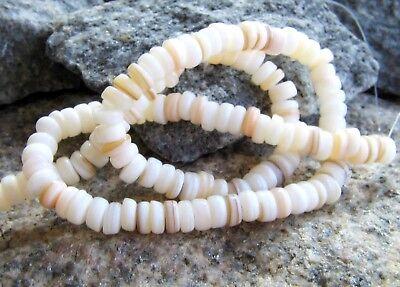 Perlmutt Perlen Rondellen 2~3x6mm cremeweiß 39cm Strang SERAJOSY