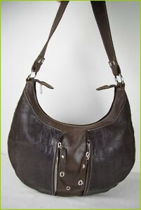 8fba6223e3e Bag Moon TEXIER Brown Leather Worn Shoulder VERY GOOD CONDITION   eBay