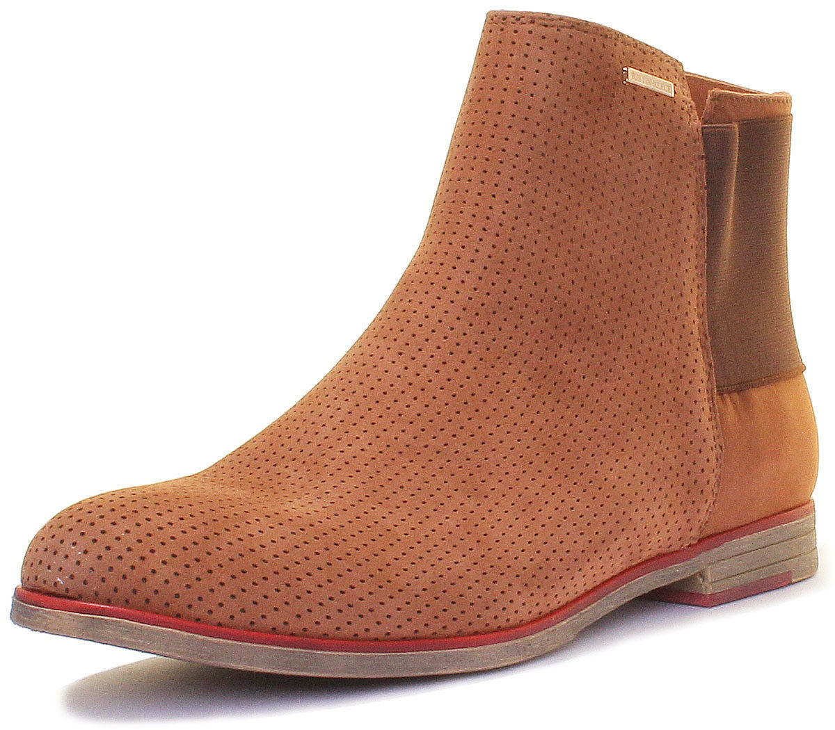 Justin Leather Reece 5900 Women Leather Justin Matt Brown Chelsea Boots 325d1a