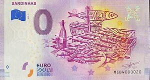 BILLET-0-EURO-SEARDINHAS-PORTUGAL-2019-NUMERO-020