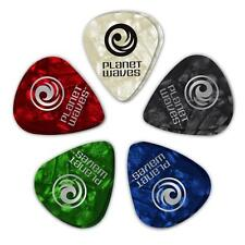 Planet Waves Assorted Pearl Celluloid Guitar Picks, 10 pack, Medium, 1CAP4-10