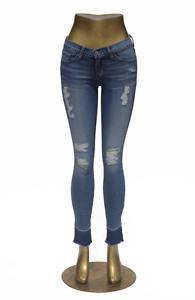 Flying Monkey Jeans L9252 Hi Waist Raw Hem Torn Skinny NWT size 26 inch NEW