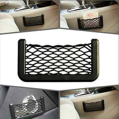 Car Black Storage Mesh Net Resilient String Phone Bag Holder For Benz Chrysler