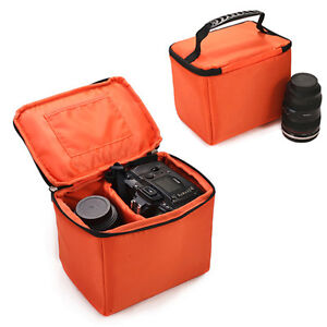Small-Waterproof-Camera-Insert-Padded-Partition-Lens-Bag-DSLR-SLR-Carry-Case