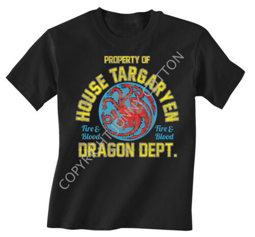 Game Of Throne Inspired Childrens T-Shirt Choose Your  Design  Boys Girls