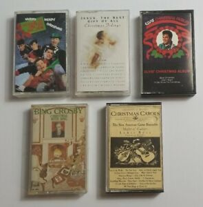 Christmas Music Cassette Tape Bundle with New Kids On The Block And More