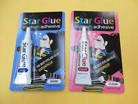 1 Star Eyelash Glue Clear + 1 Star Eyelash Glue Dark Adhesive 1/4 Oz -