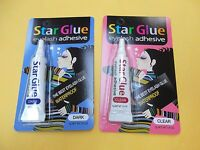 1 Star Eyelash Glue Clear + 1 Star Eyelash Glue Dark Adhesive 1/4 Oz -