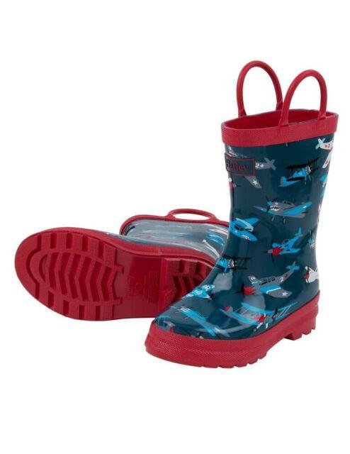 BNWT Hatley Boys Roaring T-Rex Dinosaurs Dinos Rainboots Rain Boots Wellies Blue