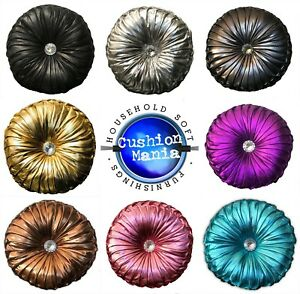 Round-Cushion-Luxury-Diamante-Chic-Filled-Scatter-Cushion-Round-NEW-SHINY