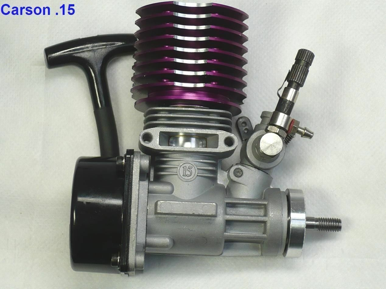 1 10 Carson15 purple Nitro gas gas gas engine redary carb side pull starter & exhaust ca bf1515