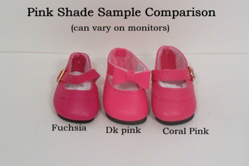 """CORAL PINK Classic Doll Shoes For 14/"""" American Girl Wellie Wisher Wishers Debs"""