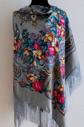 Large Coloré Russe style folk châle écharpe lys collection printemps 2018