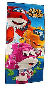 Strandtuch Super Wings für Kinder Dizzy Donnie Jett 100 /% Baumwolle Handtuch Neu