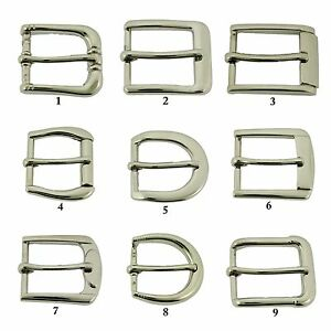 1-034-25-mm-Prong-Belt-Buckle-Silver-Nickle-Free-Strap-Leather-Rodeo-Costume-New
