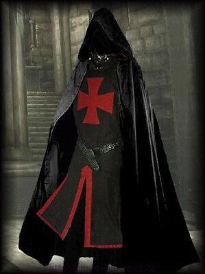 Medieval Templar Knight Crusader Surcoat & Cloak Reenactment SCA Larp