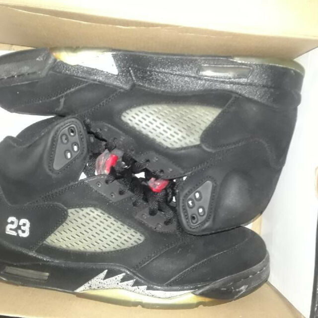 huge selection of 42c8e 0515d 2011 NIKE AIR JORDAN 5 V RETRO black red-metallic silver 136027-010