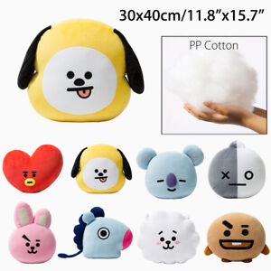 HOT BTS BT21 TATA SHOOKY RJ SUGA COOKY JIMIN Bed Plush Pillow Doll Cushion
