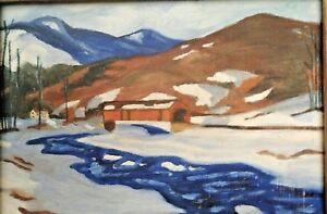 Art-Landscape-Original-Oil-Painting-Framed-9-x-12-1957-Vintage-Signed