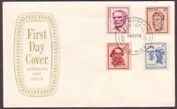 1970 FAMOUS AUSTRALIANS ON PO SHIELD FIRST DAY COVER UNADDRESSED (PS5743)