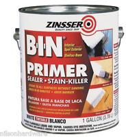 4 Gal White Zinsser B-i-n Inter/spot Exterior Stain Blocking Primer Sealer 09014