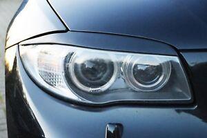 For-BMW-E87-E88-E81-E82-Eyebrows-headlight-Cover-eye-lids-light-cover-Brow-mask