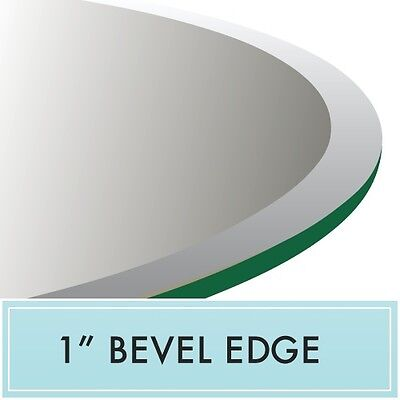 38 Inch Round Clear Tempered Glass Table Top 1 2 Thick 1 Bevel Edge 635963880484 Ebay