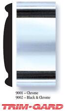 "2"" x 32' Roll Universal Chrome With Black Trim-Gard Stick On Body Side Molding"