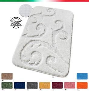 Tappeto-bagno-scendiletto-TESSITURA-3D-morbido-antiscivolo-shaggy-mod-SCILLY