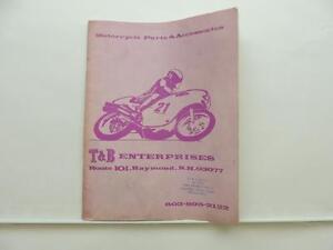 Vintage T B Motorcycle Parts Accessories Catalog Honda Yamaha Kawasaki L7247 Ebay