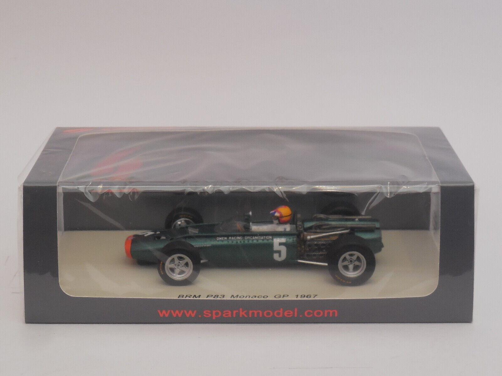 Compra calidad 100% autentica 1 43 Spark S4252 BRM P83 P83 P83   5 Mike Spence 1967 Monaco GP  Entrega gratuita y rápida disponible.