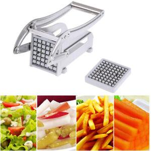 Stainless-Steel-French-Fry-Cutter-Vegetable-Potato-Chopper-Slicer-Dicer-2-Bl-CYA