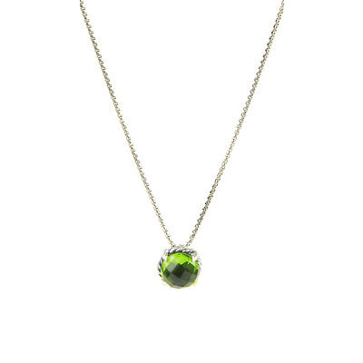 DAVID YURMAN Women's Chatelaine Pendant Necklace w/ 8mm Peridot $350 NEW