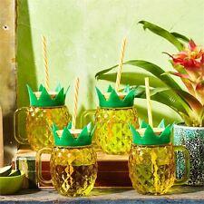 CLUB TROPICANA Set di 4 Bicchieri da bere Ananas in confezione regalo