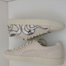 Whisper White MSRP $95 Men Fashion Shoes Puma Clyde Snake Embroidery Pack