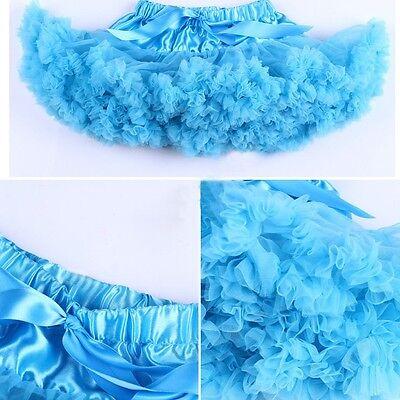 Baby girl kids chiffon fluffy tutu dance party Christmas petti skirt 0-10 Years