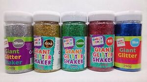 GLITTER SHAKERS 4 COLOURS INCLUDED GOLD SILVER GREEN AND RED AND FREE POSTAGE