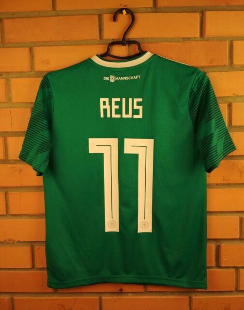 Reus Germany Jersey 2018 Away Youth 13-14 Shirt BR3146 Adidas Football Soccer
