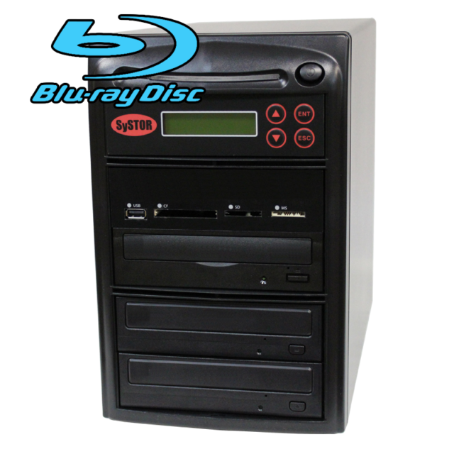 SySTOR 1-2 USB/SD/CF/MS Multi Media Memory Flash to CD DVD Blu-ray Duplicator