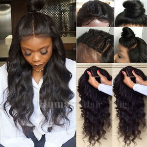 Brazilian Virgin Human Hair Wigs 360 Full Lace Front Wig For African