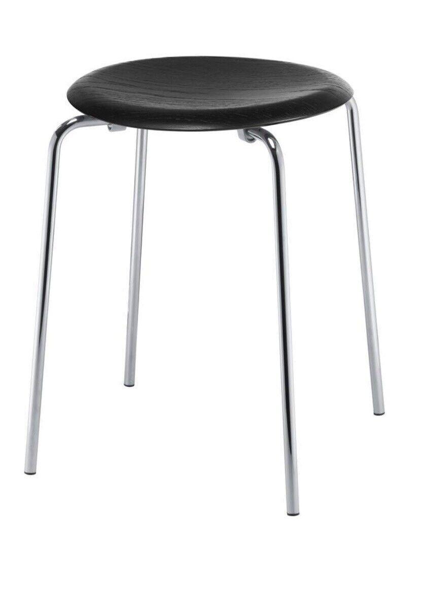 Arne Jacobsen, DOT stol , sort ask, Taburet, Stolen er he