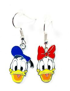Disney-Inspired-DONALD-DUCK-and-DAISY-DUCK-Character-Drop-Dangle-Earrings-GIFT
