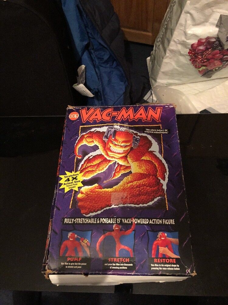 Vac man-Cap Toys- (stretch Armstrong)-very Good Condition-boxed With Instruction