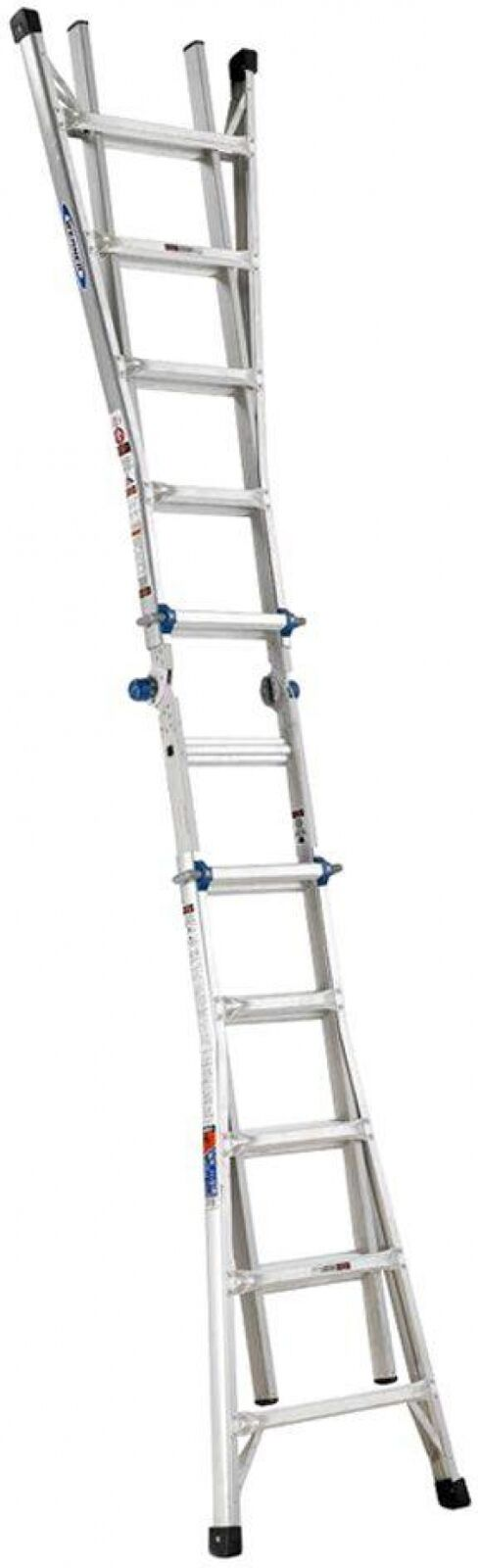 Multiposition Ladder Telescoping Twin Steps Aluminum Load Capacity 300 Pounds