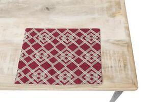 Lot-de-4-pieces-chiffon-Rouge-tout-039-Americaine-cm40x30-en-coton-Noel-napperon