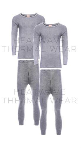 Long Sleeve Top /& Long Johns Set Pack Of 2 Men/'s Thermal Underwear Set M Grey