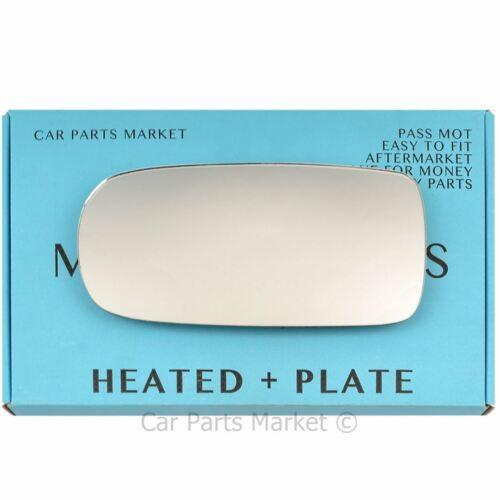 Left side Flat Wing mirror glass for Jaguar XJ 1994-2002 heated plate