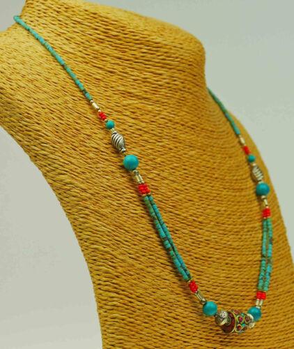 Halskette aus Nepal Türkis Kette Schmuckstück a62//1