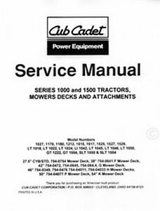 cub cadet lt 1042 1045 1046 1050 gt 1222 service manual ebay rh ebay com LT1042 Tires cub cadet lt1042 service manual download